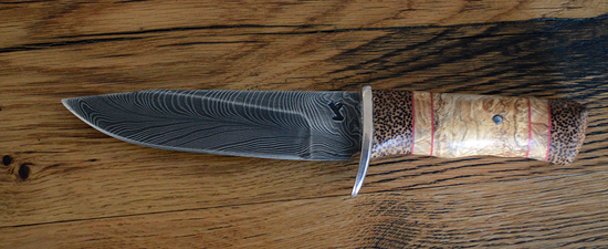 Couteau de chasse en Damas