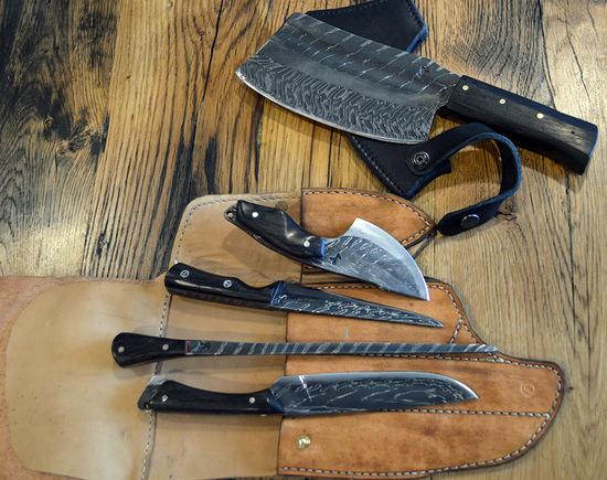 set de couteaux de boucher